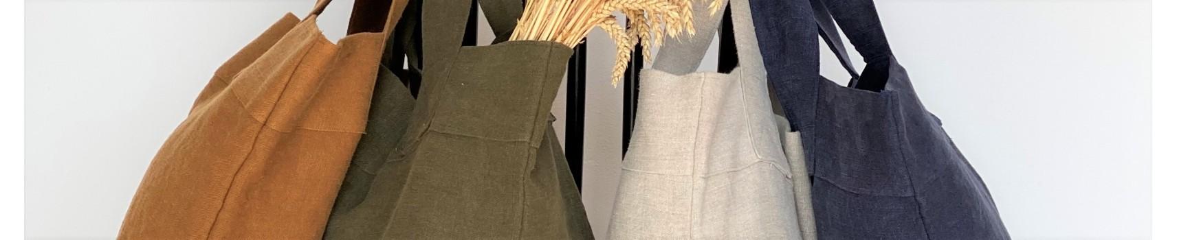 dimanche: sacs en lin, fabrication française, Charvet Editions