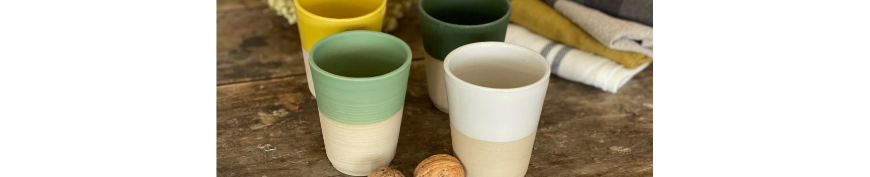 dimanche: 100% made in france, vaisselle grès céramique tasse pichet